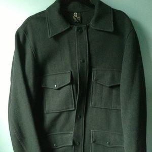 Vintage 70s Thermo King Dark Green Mackinaw Jacket